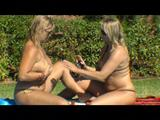 Two girls are playing at the pool 5