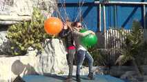 Blow to pop by Alissa and Elena in a strange place 6