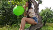 Mishel green outdoor b2p in trees 7